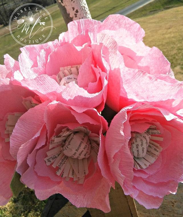Crepe paper flowers crepe paper poppy poppy flower poppies etsy image 0 mightylinksfo