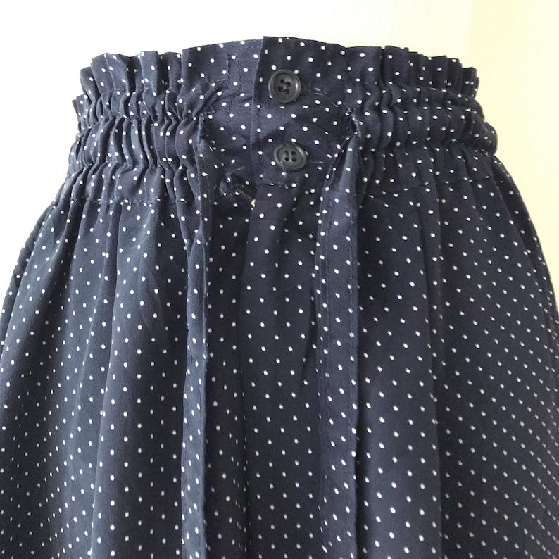Navy blue high rise pants drawstring pants Petite  size XS Nellie elastic waist trousers