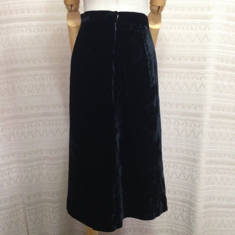 30db460deac 80's velvet skirt XS/S Courtney black velvet | Etsy