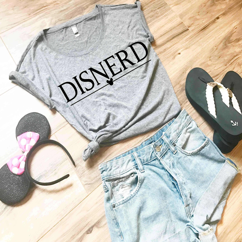 Disney Parks Mickey Nerd Womens Tee Shirt Size Small