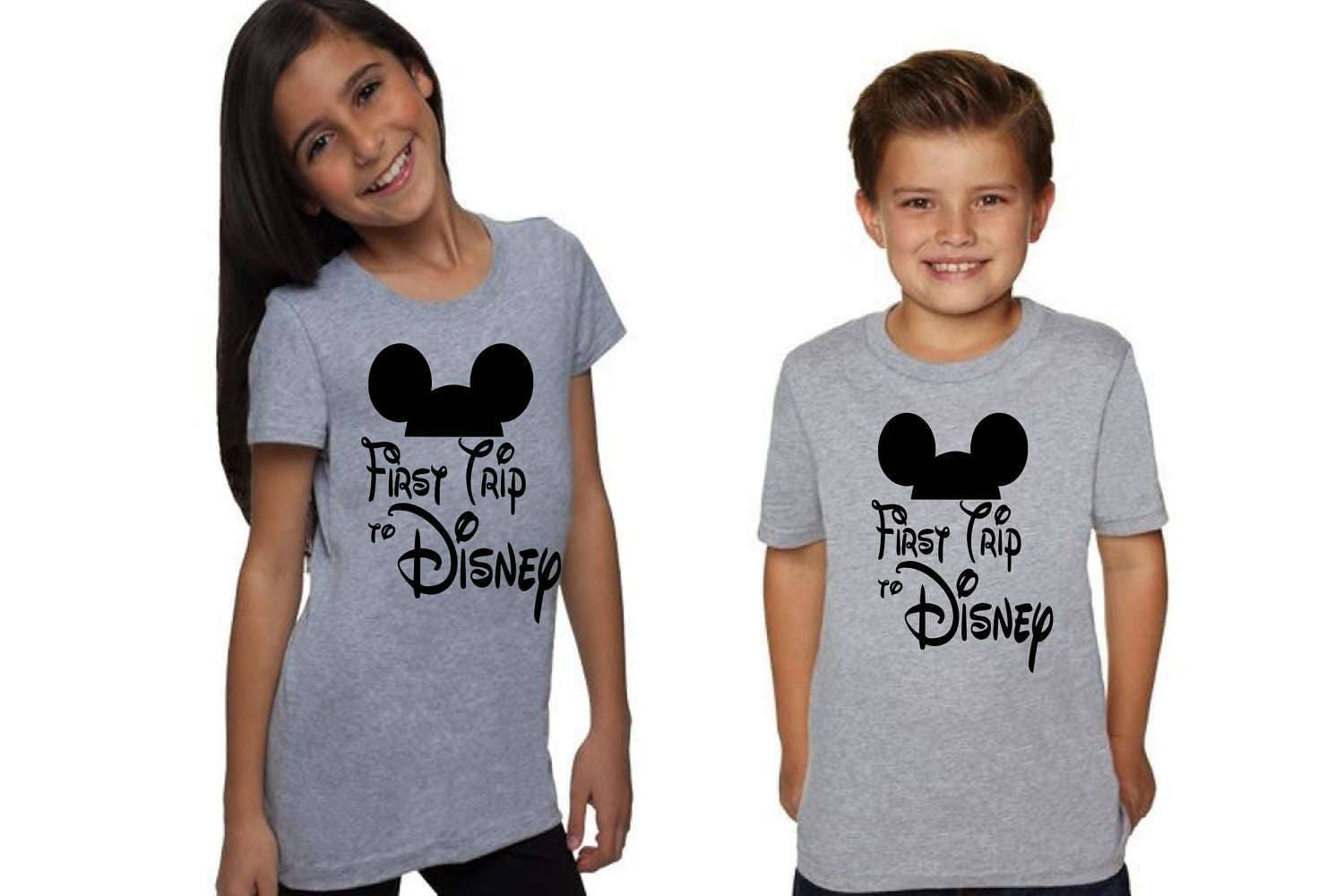 Matching Disney Shirts for Boys and Girls First Trip to ...
