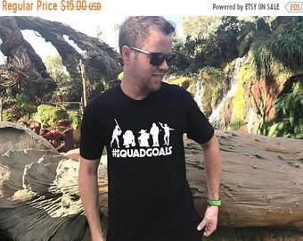 CLEARANCE Mens or Unisex Star Wars Squad Goals T Shirt Perfect for Trip to Disney World or Disneyland or the Star Wars 10K Race or Marathon