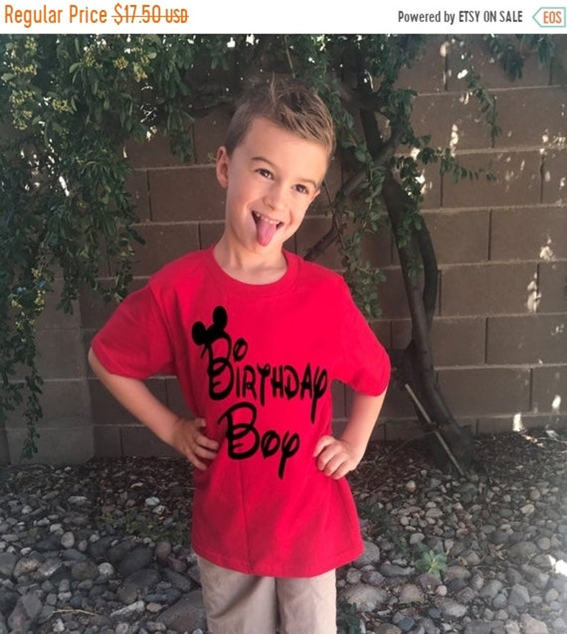 cc25fc87a0cf3 FREE SHIP - Flash Sale Boy's Disney Shirt - Birthday Boy with Mickey Mouse  Ears great for a trip to Disneyland or Disney World - Makes a gre