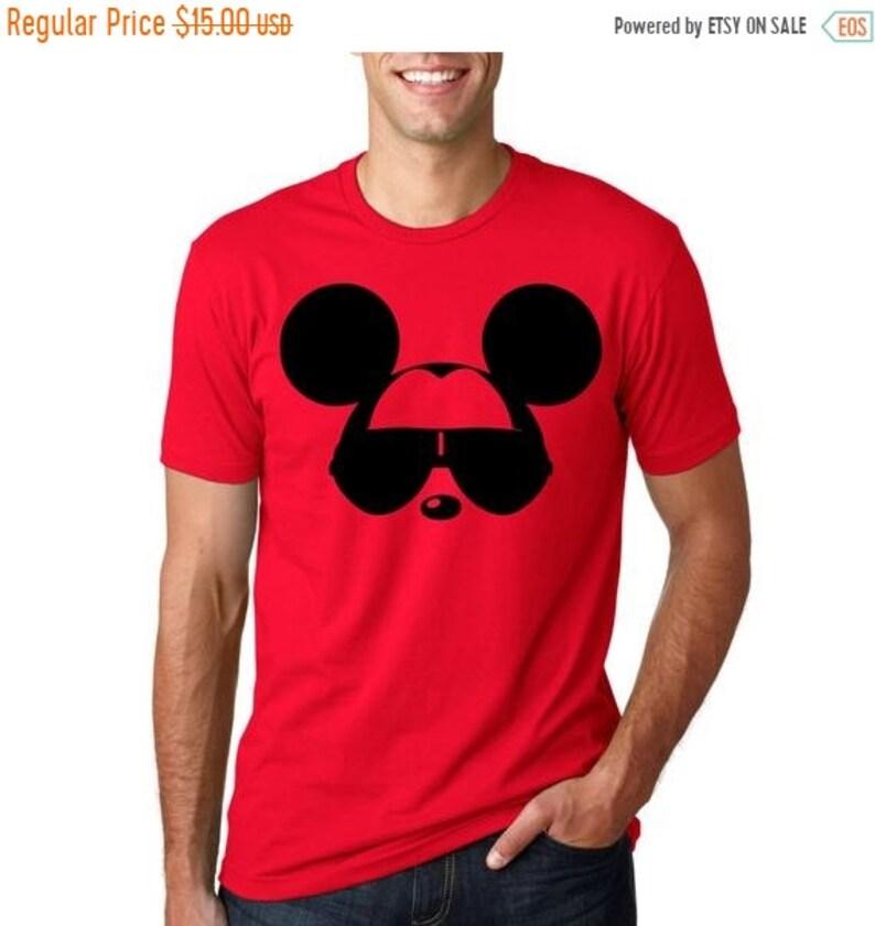 894bbf80 Men's Disney Shirt Mickey Mouse with Sunglasses Funny   Etsy