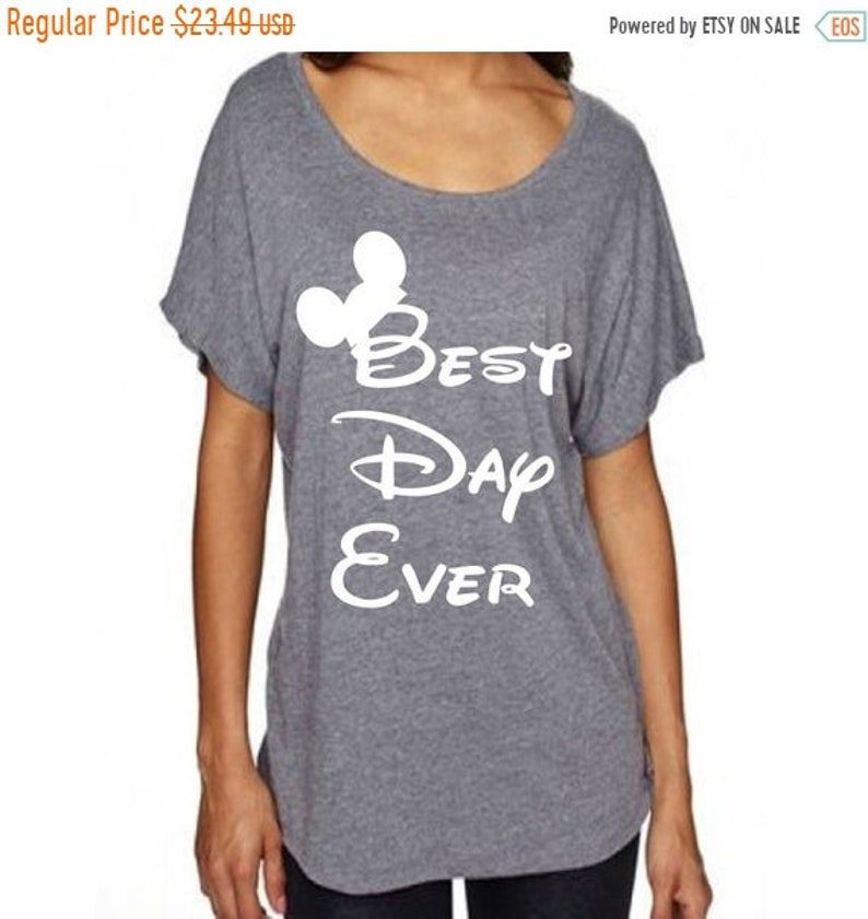 20d10289 Summer Sale Disney Women's Shirt Best Day Ever with Mickey | Etsy