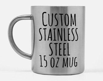 7c17f55fe07 Stainless steel mug | Etsy