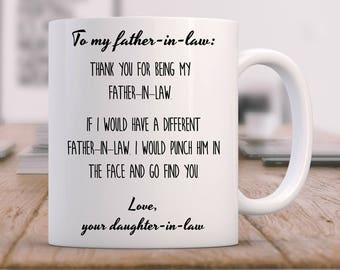 father in law gift father in law mug father in law gift etsy