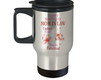 Mother In Law Birthday Gift Ideas Happy Travel Mug Tumbler For Her