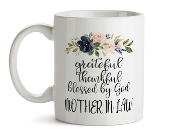 Mother In Law Gift Blessed Wedding Birthday From Bride Mom Mug