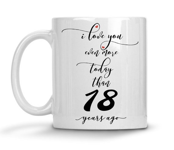 18th Wedding Anniversary Gift For Him Personalized Etsy