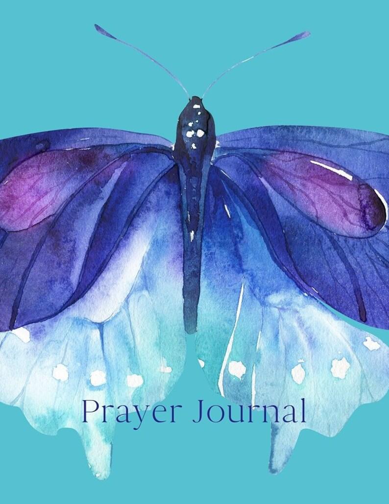Butterfly Prayer Journal Christian Journal Prayer Notebook image 0