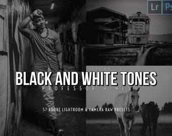 Black and White Tones (v1)   Lr 7-CLASSIC/Ps (Camera Raw) Presets - Professor Hines' Choice