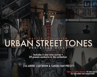 Urban Street Tones - Master Collection (Volumes 1-7) + Expansion Pack v1   Lr CLASSIC/Ps (Camera Raw) - Professor Hines' Choice