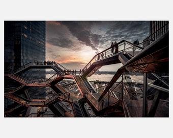 Vessel   Abstract Sunsets Fine Art Cityscape Signed Photographic Piece   Acrylic Metallic Print   MC-002