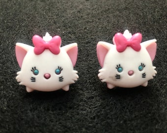 Free Shipping! Disney's Marie from Aristocats Tsum Tsum Earrings