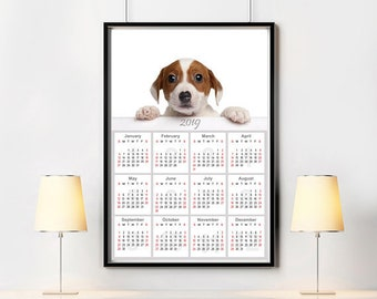 Glitter world map wall calendar 2019 modern home decor cute puppy print beagle baby wall calendar 2019 dog supplies kids room calendar modern home decor gumiabroncs Gallery