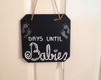 Chalkboard / Blackboard Babies / Baby due date countdown