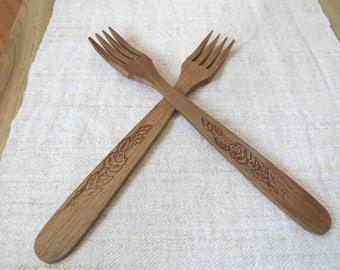 Hochwertig Gut Holz Gabeln, Rustikale Gabeln, Rustikale Küche Dekor, Rustikale Besteck  Gäste Geschenk,