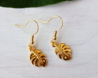 Quite Philodendron - creating sparkle earrings