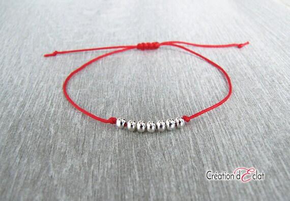 Rotes Armband 7 Perlen Kabbala / Kabbalah Armband / roten | Etsy
