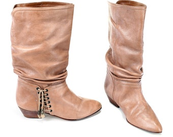 stivali in pelle flosci donna