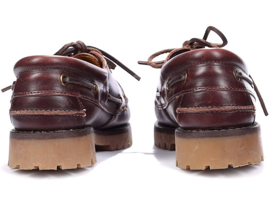 Footwear 6 Sz 5 LAND Casual Uk Brown Loafers 5 Boat Eur 36 3 Women Rugged ROVER Burgundy Brown Sole Shoes 80s US Leather Deck qTpwx54xE