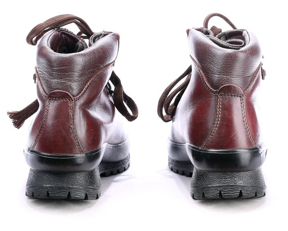 Leather 36 Hiking Eur 3 Platform Us 5 Women Boot Padded Boots Survivor Chunky Burgundy Uk Brown Hiking 90s 5 WIDE Fit 1IpI4Aq