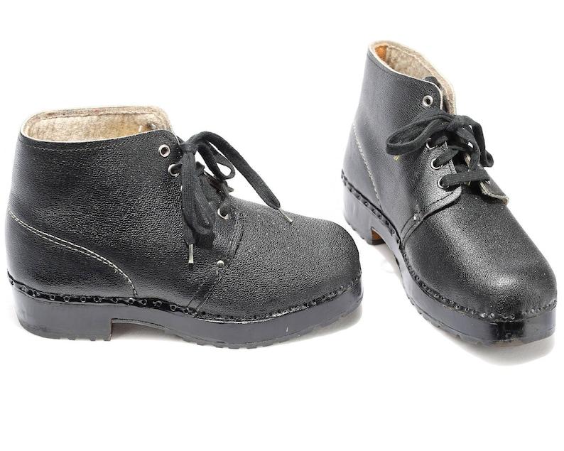 416f33f26aa4 US Women 9.5 Scandinavian Clog Boots 70s Wide Fit Swiss Made