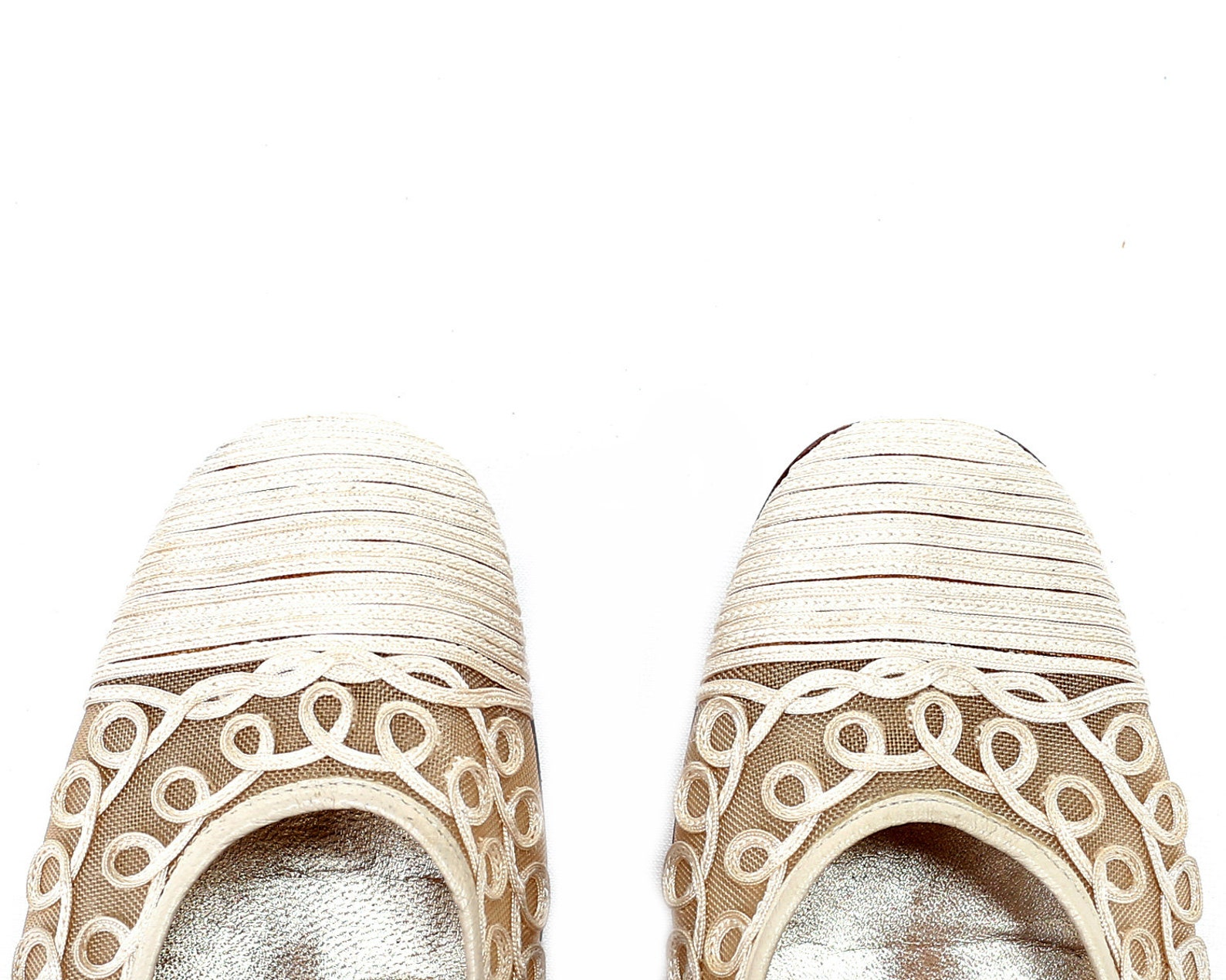 us size 6 sheer mesh ballet shoes 80s wedding ballerinas vintage ivory white flats low heel leather sole slip on flats eur 36 uk