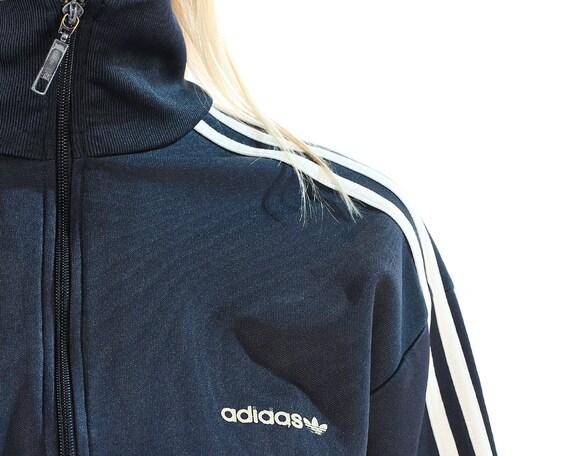 Adidas Éclair Tortue Fermeture Vintage Des Bleu 90 Veste 5b4cnuq Années RcLA3j5q4
