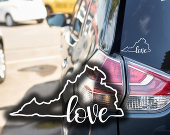 FREE SHIPPING Virginia Love car, window, cell phone decal