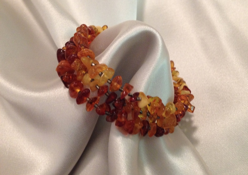 AMBER BRACELET Collectible,ca 1970s Vintage Baltic Bracelet from Ukrania Gift for Her