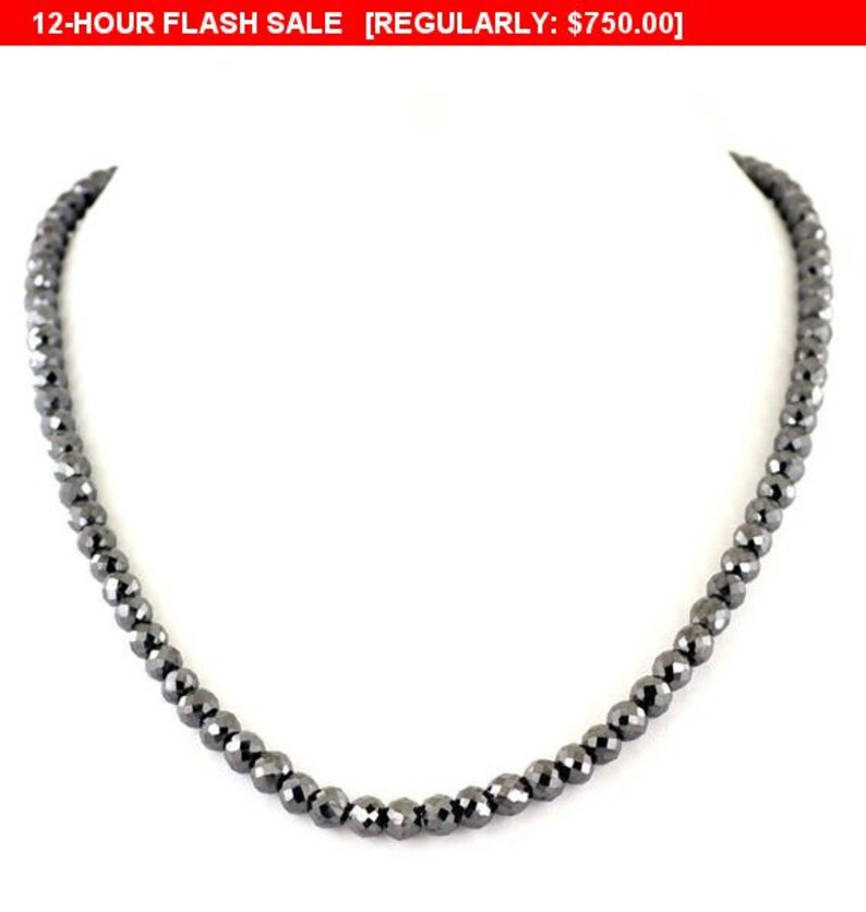 2f5eba692e15b Derek Jeter Black Diamond Necklace, Certified AAA quality Beads, 7mm  Beads,24 inches,26 inches Black Gold Clasp,Free Studs