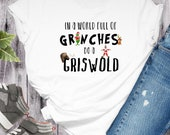 Grinches and Griswolds, Holiday Tshirts, Bleached Holiday Shirts, Christmas Tshirts, Sweatshirts for Christmas, Holiday Movie Shirts