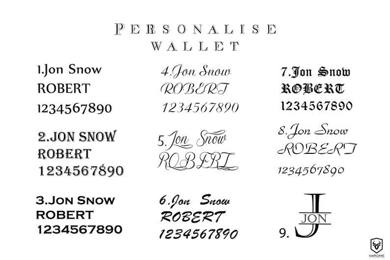 custom wallet Fiance gift for him Mens Wallet Personalized wallet Leather Wallet Mens Bifold Wallet Minimalist Wallet Engrave Wallet