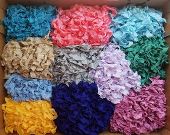 Hand Crinkled Seam Binding Ribbon-30 yards-10 Colors Mixed Lot Scrapbook Cards