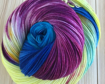 Hand dyed yarn Sock weight 463 yards 4 ply