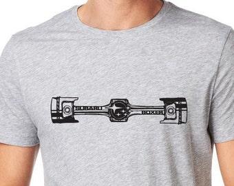 Subaru BOXER t-shirt GREY wrx sti forrester legacy