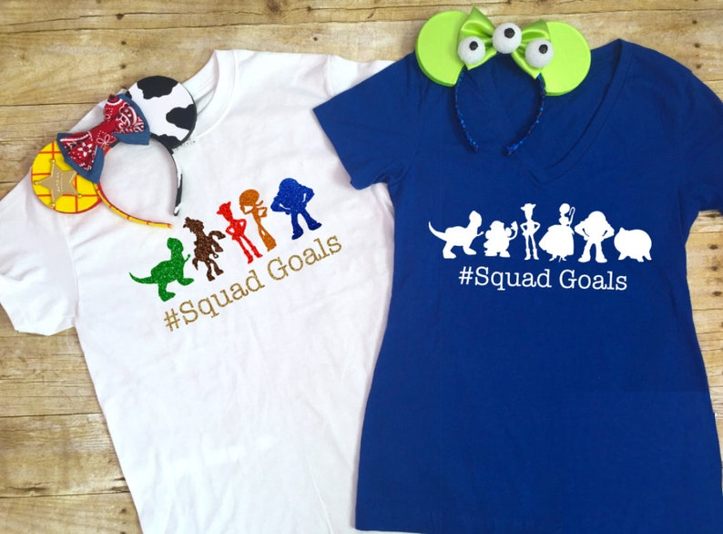 fdb9f61a94 Toy Story Character Silhouette Family Shirts Disney Shirt Tank | Etsy