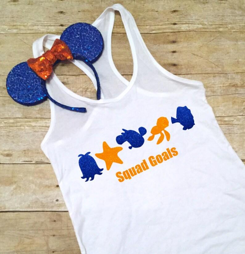 e3e58f285dbd Squad Goals Nemo Dory Disney Finding Family Shirts Disney   Etsy