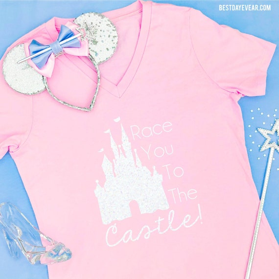 Race You To The Castle Shirt The Perfect Run Disney Marathon Etsy