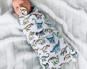 Baby swaddle   Flannelette baby wrap   DINOSAUR print   100cm x 100cm approx in size   baby blanket   baby shower   new baby gift