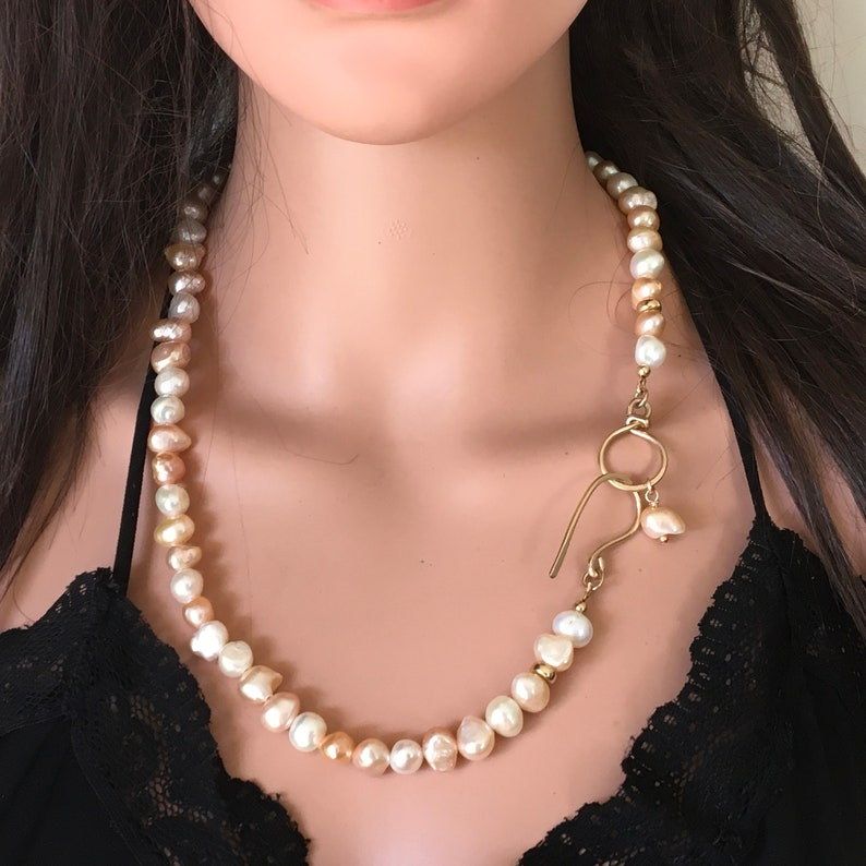 Freshwater Pearls goldfilled Necklace,