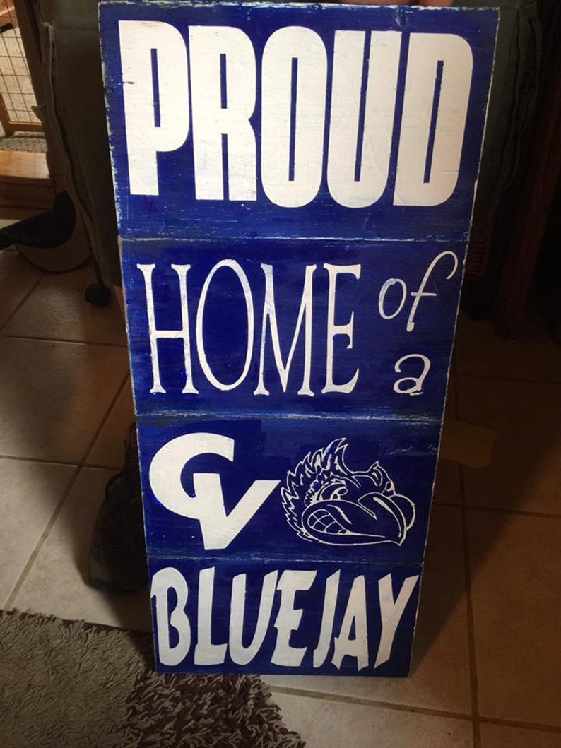 Custom made school spirit signs etsy