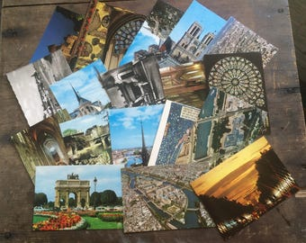 47 french postcards 1980s