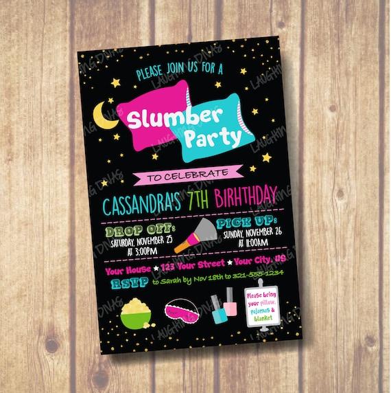 Kissen Pyjama Party Einladung Tween Teen Geburtstag Einladen Etsy