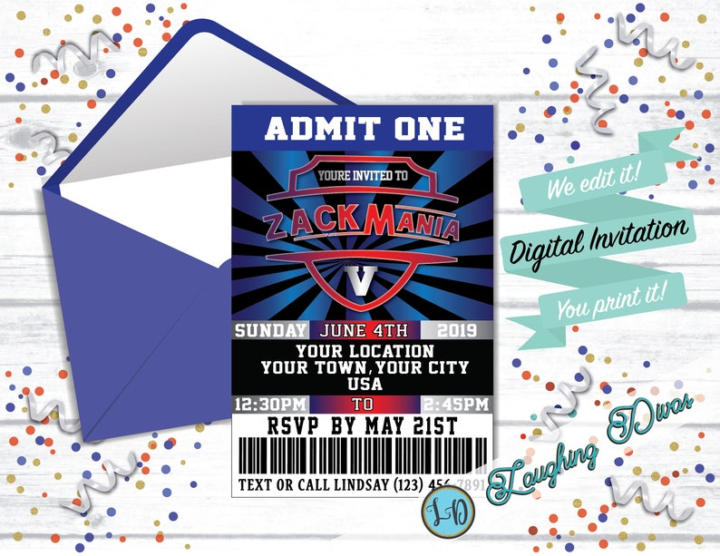 Ticket Birthday Party Invitation Vip Birthday Invitation Etsy