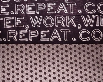 Coffee, Work, Wine, and Repeat - Reversible