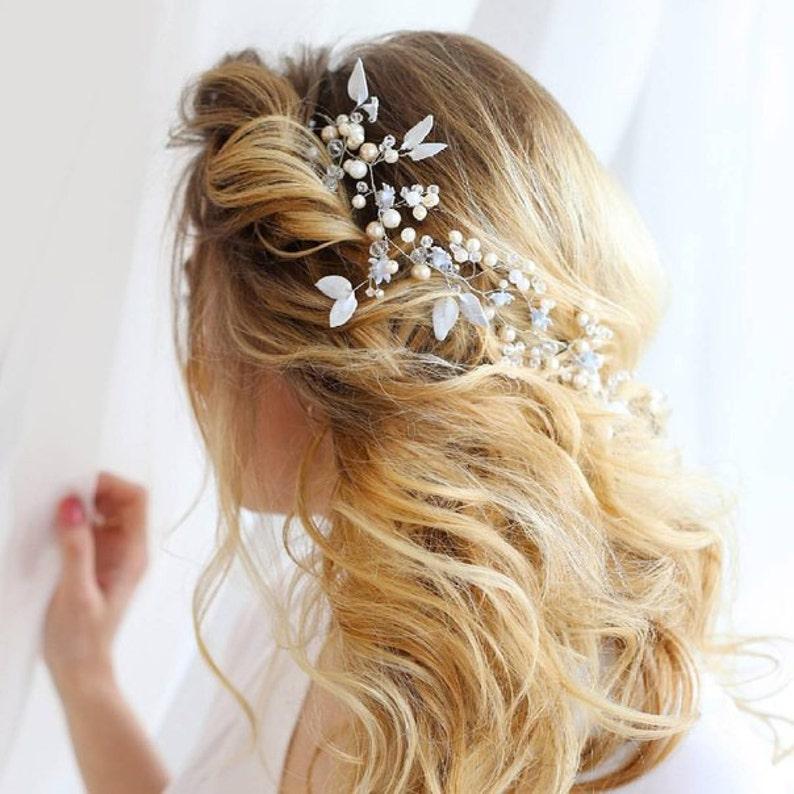Bridal hair vine wedding jewelry image 0