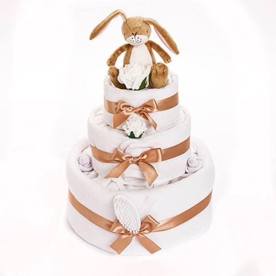 Baby S First Bunny Nappy Cake Rabbit Nappy Cakes Baby Etsy